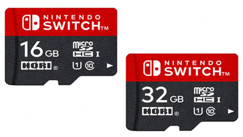 tarjetas de memoria switch