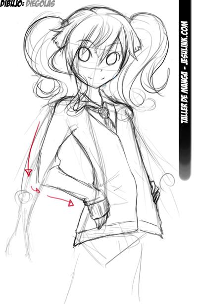 Como Dibujar Chica Manga ( Muy Facil ) - Arte - Taringa!